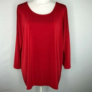 Chico's Womens Top Blouse High Low Pullover Size 3